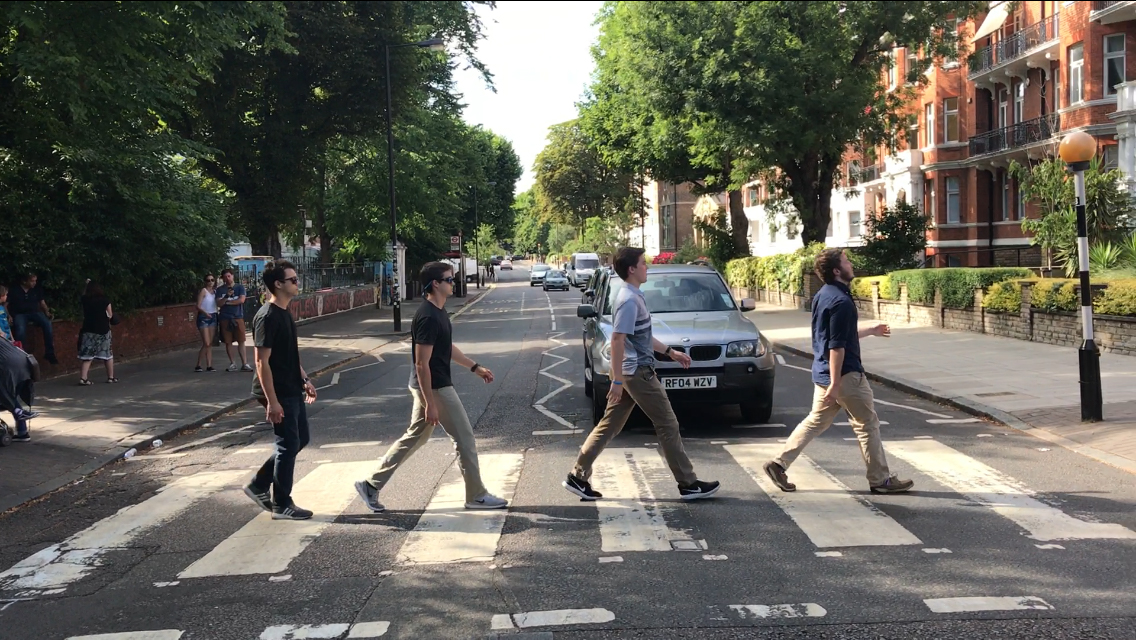 Students at Abbey Road